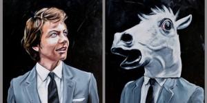Hidden Heads #JULES 180 x 140 cm huile sur toile 2014