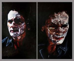 Painted faces #PASCAL 90x 140 cm huile sur toile 2014